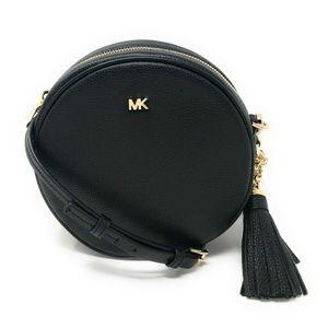 Michael Kors Oxblood Pebbled Leather Crossbody Bag